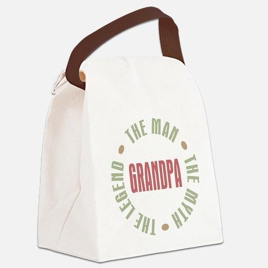 Grandpa The Man Myth Legend Canvas Lunch Bag