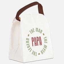 Papa Man Myth Legend French Canvas Lunch Bag