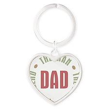 Dad Man Myth Legend Heart Keychain