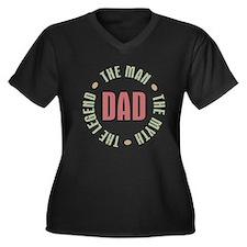 Dad Man Myth Women's Plus Size Dark V-Neck T-Shirt