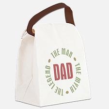 Dad Man Myth Legend Canvas Lunch Bag