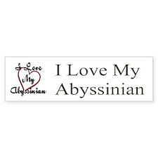 I Love My Abyssinian Bumper Bumper Sticker