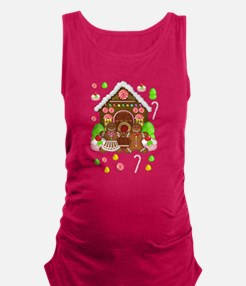 Gingerbread People & House Maternity Tank Top
