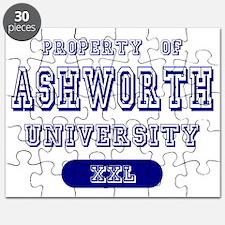 Property of Ashworth University Puzzle