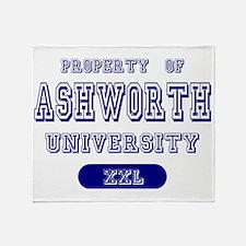 Property of Ashworth University Throw Blanket