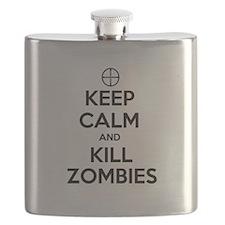 Keep Calm and Kill Zombies Flask