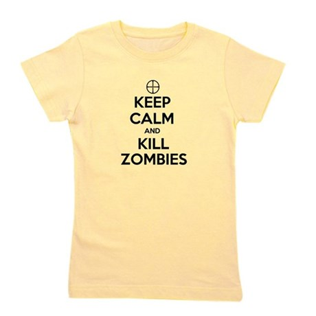 Keep Calm and Kill Zombies Girl's Tee