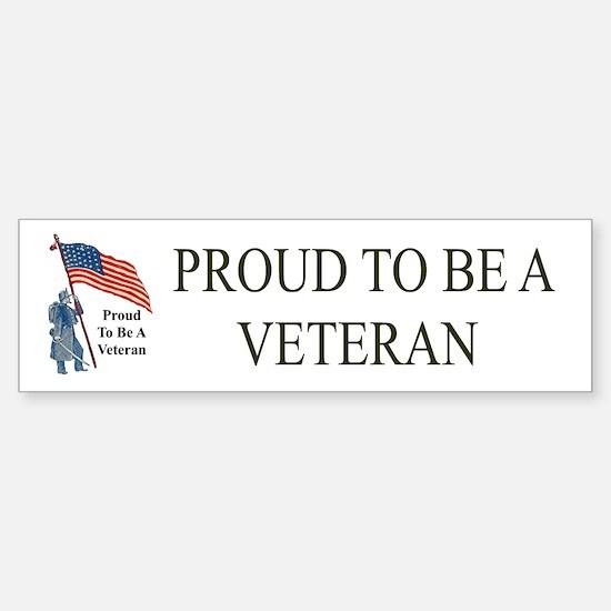 Proud To Be A Veteran Bumper Car Car Sticker