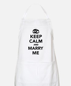 Keep calm and marry me Apron