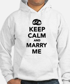 Keep calm and marry me Hoodie