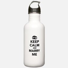 Keep calm and marry me Water Bottle