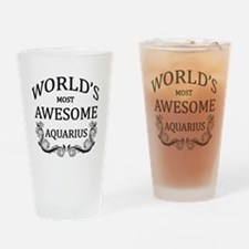 World's Most Awesome Aquarius Drinking Glass