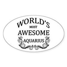 World's Most Awesome Aquarius Decal