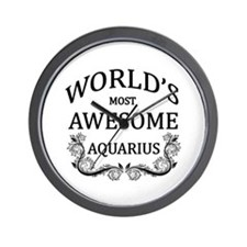 World's Most Awesome Aquarius Wall Clock