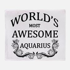 World's Most Awesome Aquarius Throw Blanket