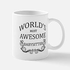 World's Most Awesome Babysitter Mug