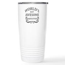 World's Most Awesome Babysitter Travel Mug