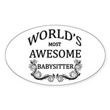 World's Most Awesome Babysitter Decal