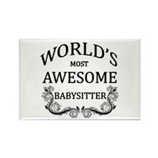 World's Most Awesome Babysitter Rectangle Magnet