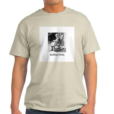 Knitting Rocks Ash Grey T-Shirt