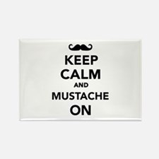 Keep calm and Mustache on Rectangle Magnet (10 pac