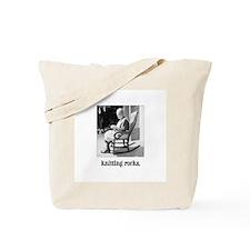 Knitting Rocks Tote Bag