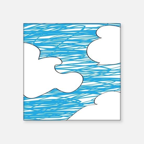 Scribble Clouds Sticker