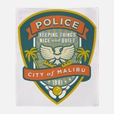 The Big Lebowski Malibu Police Throw Blanket