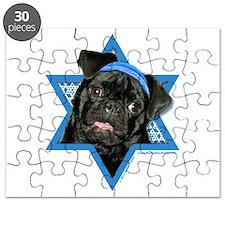 Hanukkah Star of David - Pug Puzzle