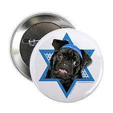 "Hanukkah Star of David - Pug 2.25"" Button"