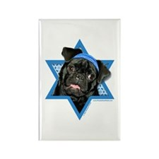 Hanukkah Star of David - Pug Rectangle Magnet