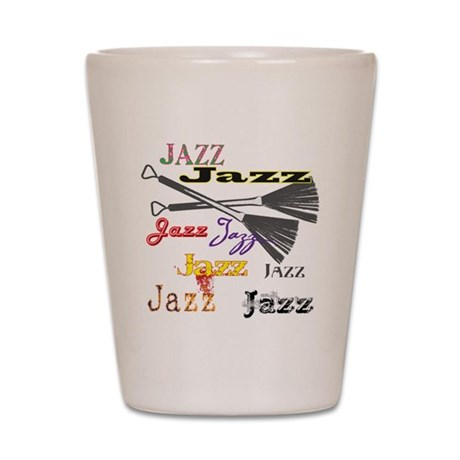 Jazz Brushes Shot Glass