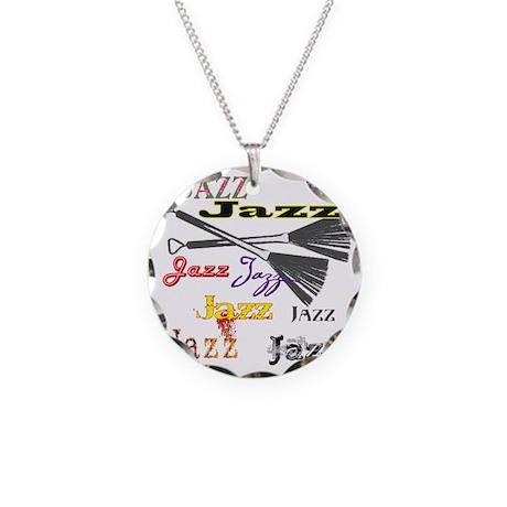 Jazz Brushes Necklace Circle Charm