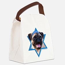 Hanukkah Star of David - Pug Canvas Lunch Bag