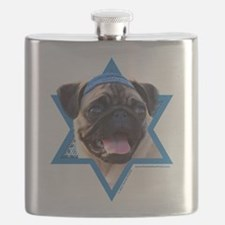Hanukkah Star of David - Pug Flask
