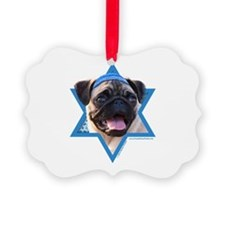 Hanukkah Star of David - Pug Ornament