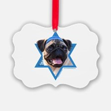 Hanukkah Star of David - Pug Ornament