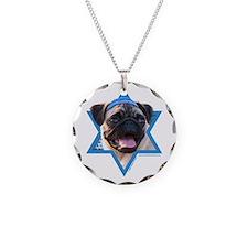 Hanukkah Star of David - Pug Necklace