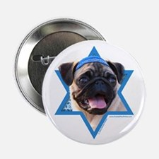 "Hanukkah Star of David - Pug 2.25"" Button (10 pack"