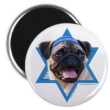 "Hanukkah Star of David - Pug 2.25"" Magnet (10 pack"
