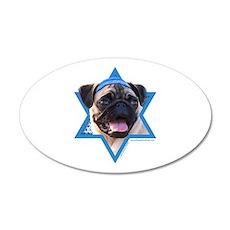 Hanukkah Star of David - Pug Wall Decal