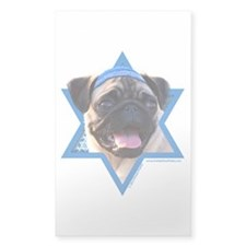 Hanukkah Star of David - Pug Decal