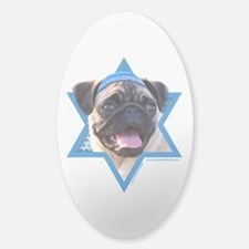 Hanukkah Star of David - Pug Decal