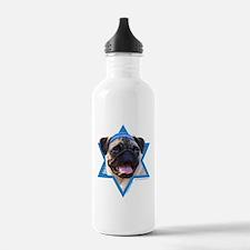 Hanukkah Star of David - Pug Water Bottle