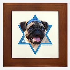 Hanukkah Star of David - Pug Framed Tile