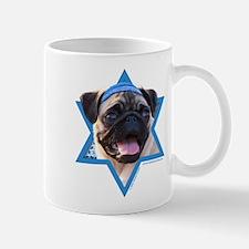 Hanukkah Star of David - Pug Mug