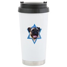 Hanukkah Star of David - Pug Travel Mug