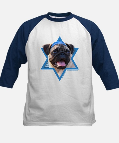 Hanukkah Star of David - Pug Kids Baseball Jersey