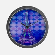 modern eiffel tower paris Wall Clock