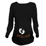 Halloween Dark Long Sleeve Maternity T-Shirt